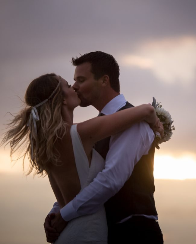 Sunset wedding hawaii