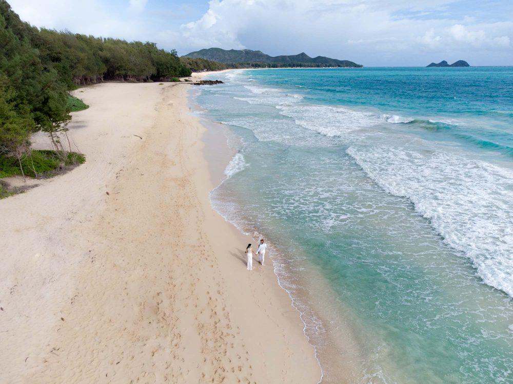 drone shots at waimanalo beach